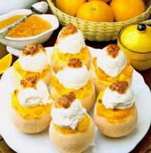 Receta de Naranjas Mont Blanc
