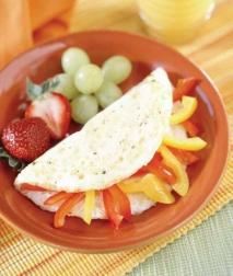 Omelette de pimientos rojos y amarillos