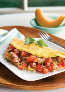 Omelet de tomate y ajo