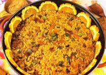 Paella de verduras y hortalizas