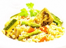 Paella integral con hortalizas