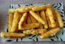 Palitos de queso feta rebozados