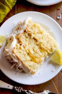 Pan de coco y limón con glaseado de limón