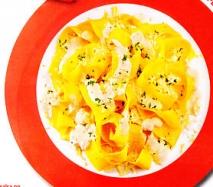 Pappardelle con nata y limón