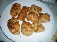 Paquetitos de hojaldre con espinacas y queso de cabra