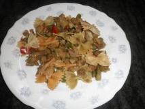 Pasta con hortalizas