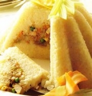 Pastel de arroz relleno