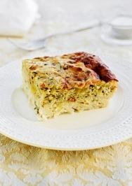 Pastel de arroz y queso