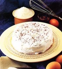 Pastel de coco y café