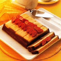 Receta de Pastel de galletas cuadradas