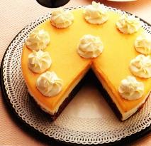 Pastel de limón y chocolate