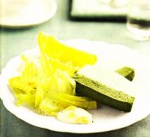 Pastel de pescado bicolor