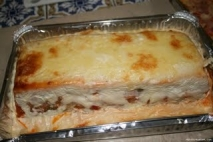 Pastel de pisto con sardinas