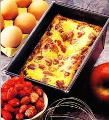 Pastel de queso fresco y fresitas