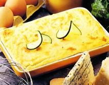 Pastel de queso y pepino