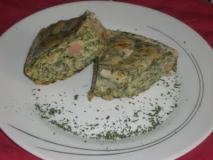 Pastel de salmón a la crema de acelgas