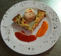Pastel de Verduras con Dos Salsas