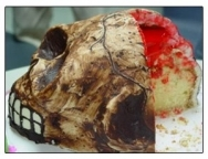 Receta de Pastel repugnante de Halloween