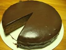 Pastel vienés de chocolate