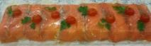 Pastel de salmón ahumado casero