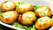 Patatas asadas con nata agria