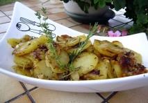 Patatas confitadas con romero y tomillo