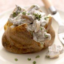 Patatas rellenas de mucosas blancas