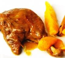 Pato con naranja