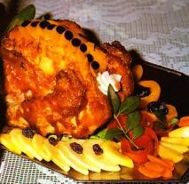 Pavo asado relleno al estilo andaluz
