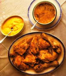 Receta de Pavo malagueño con dos salsas