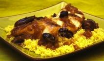 Pechugas de pollo a la miel con dátiles y cuscús