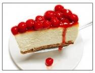 Pie de queso y de gelatina con frutas