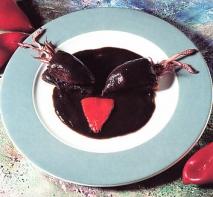 Receta de Pimientos rellenos con salsa negra