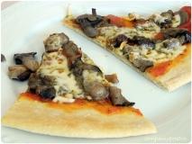Pizza de setas frescas