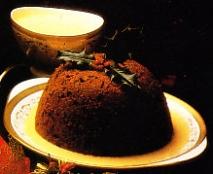 Receta de Plum-pudding con crema inglesa