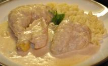 Pollo a la crema de ave