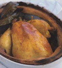Pollo a los cuarenta ajos