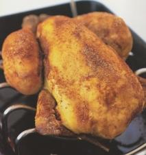 Pollo asado al pimentón picante
