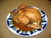 Pollo asado con laurel,tomillo y limón