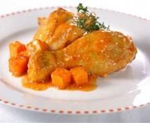 Pollo con boniatos