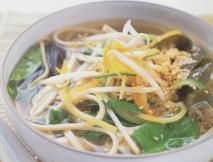 Pollo con fideos udon