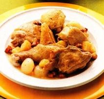 Pollo con nabos