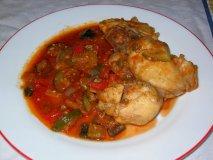 Pollo con sanfaina