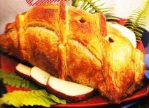 Pollo relleno al hojaldre