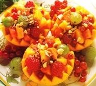 Pomelos rellenos de fruta