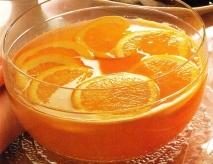 Ponche frío de naranja y ron