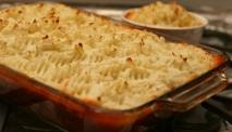 Puré de patatas con carne y verduras