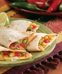 Quesadillas de vegetales