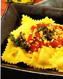 Raviolis con salsa de tomillo