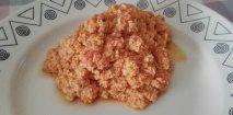 Revoltillo de tomate y huevos